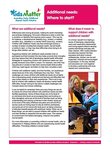 Additional Needs_Where to Start_Page_1