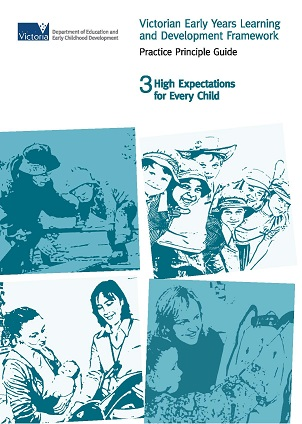 VEYLDF practiceguide3 High Expectations for every child_front cover
