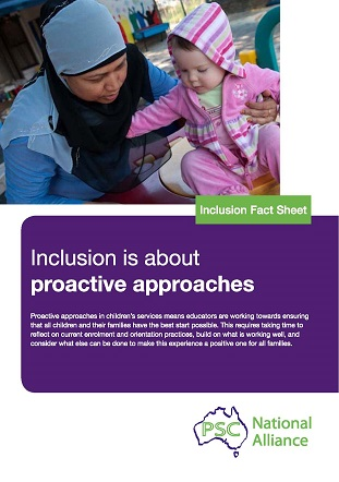 Inclusion Fact Sheet_inclusion is about proactive approaches